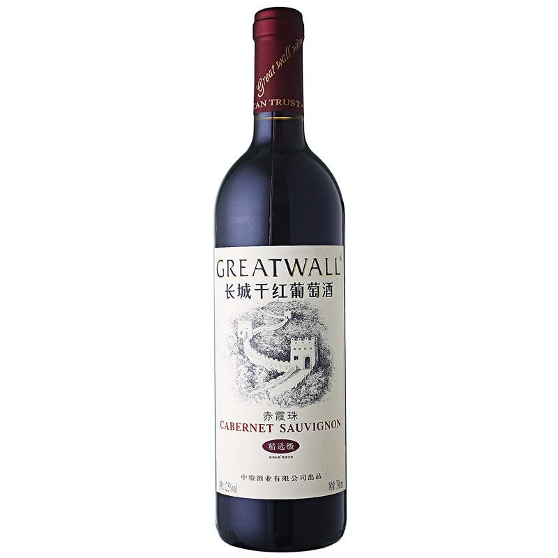 长城干红葡萄酒赤霞珠精选级价格