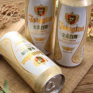 青岛啤酒全麦白啤酒
