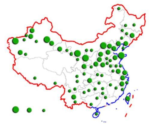 中国葡萄酒产区分布