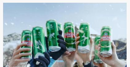 青岛啤酒玩转冰雪国潮